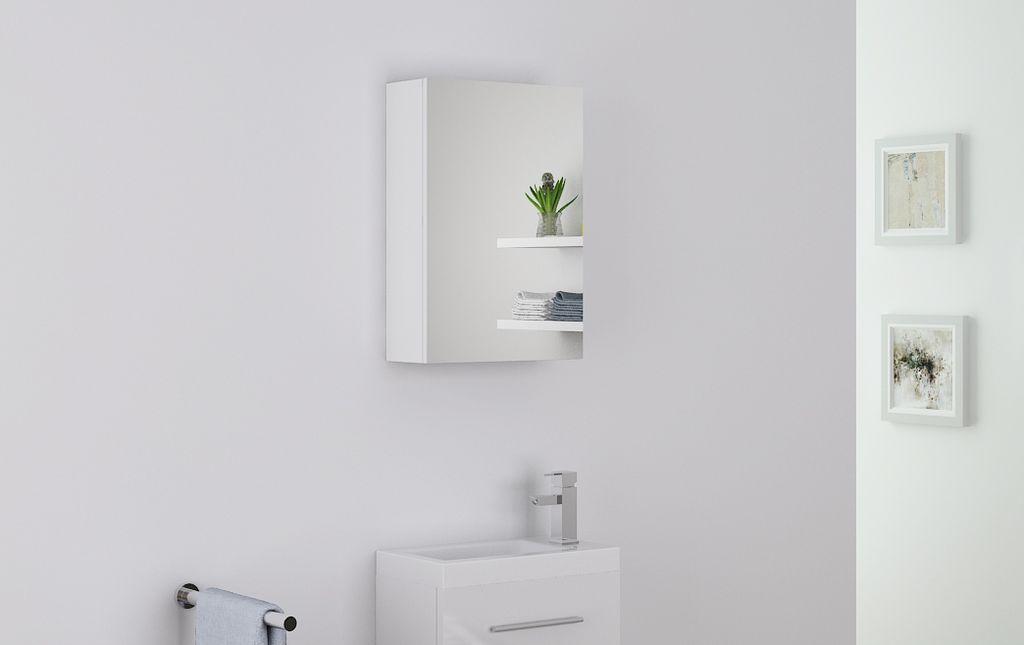 Badmöbel Spiegelschrank VISIT in weiß