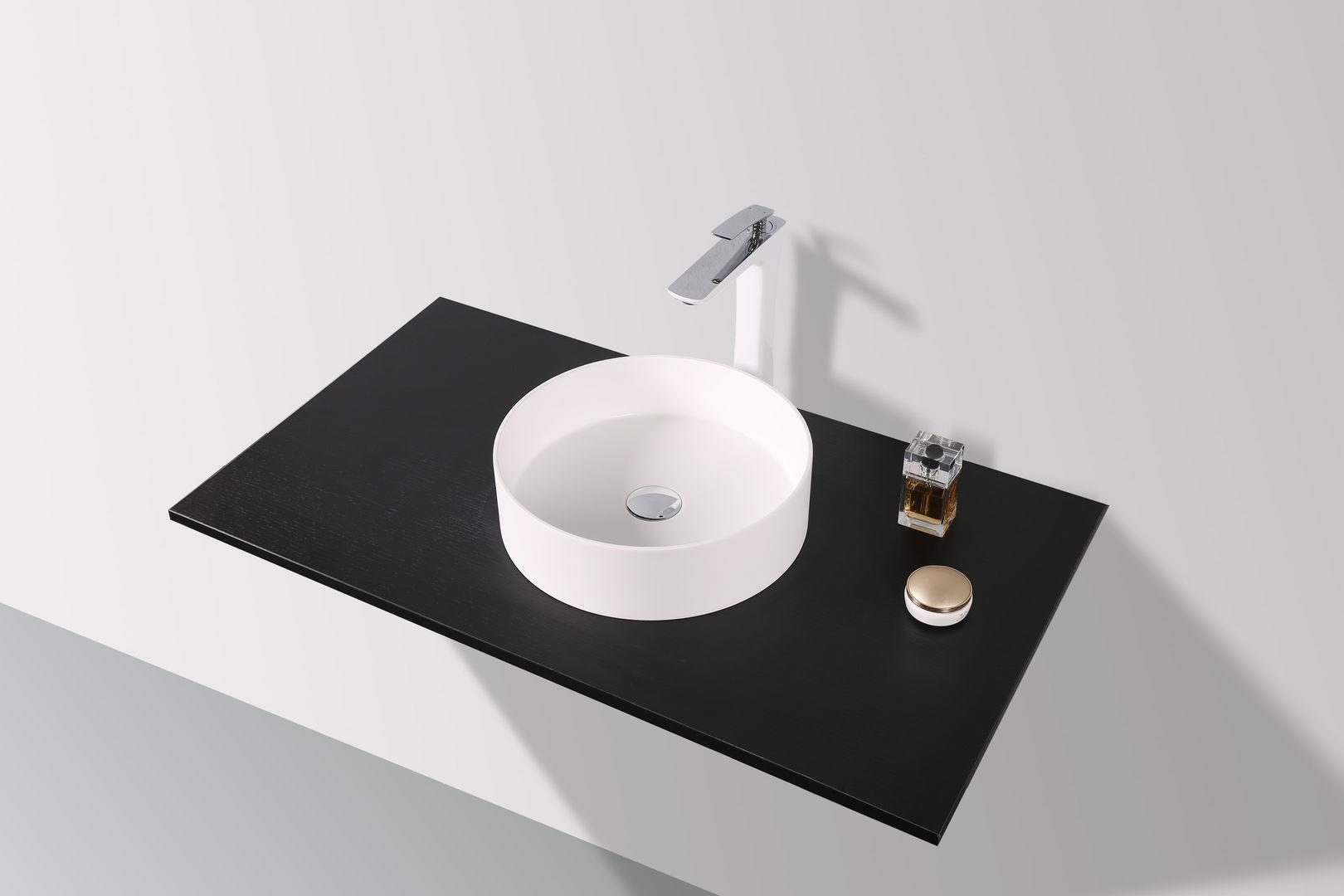 SLIM - DESIGN Mineralguss Aufsatzwaschtisch WT-2365