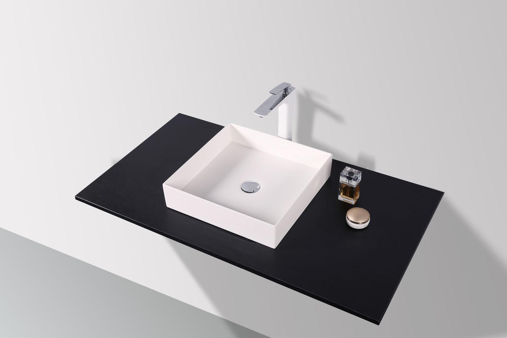 SLIM - DESIGN Mineralguss Aufsatzwaschtisch WT-2369