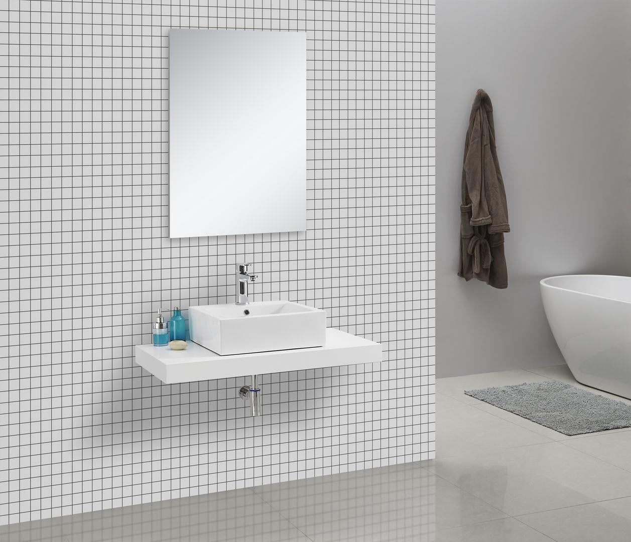 Waschtischkonsole 100 x 50 cm (weiß)