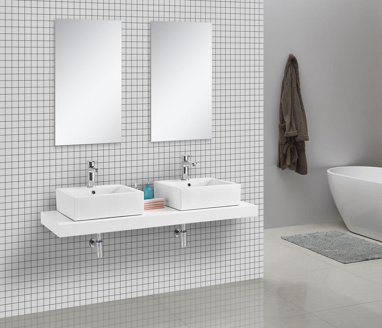 Waschtischkonsole 150 x 50 cm (weiß)
