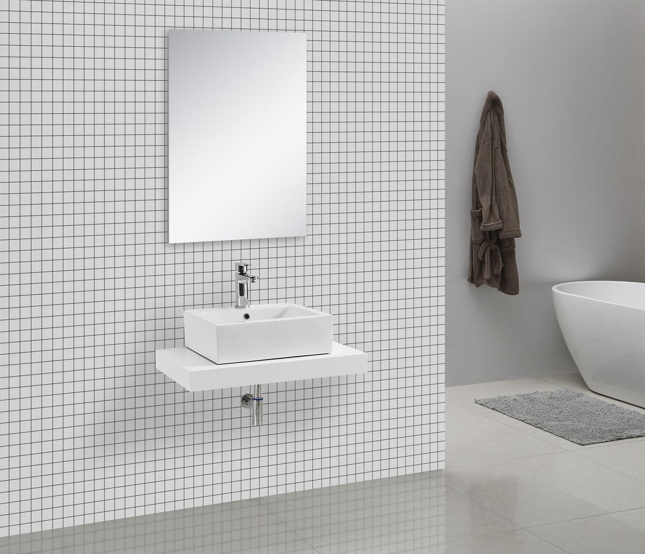 Waschtischkonsole 75 x 50 cm (weiß)
