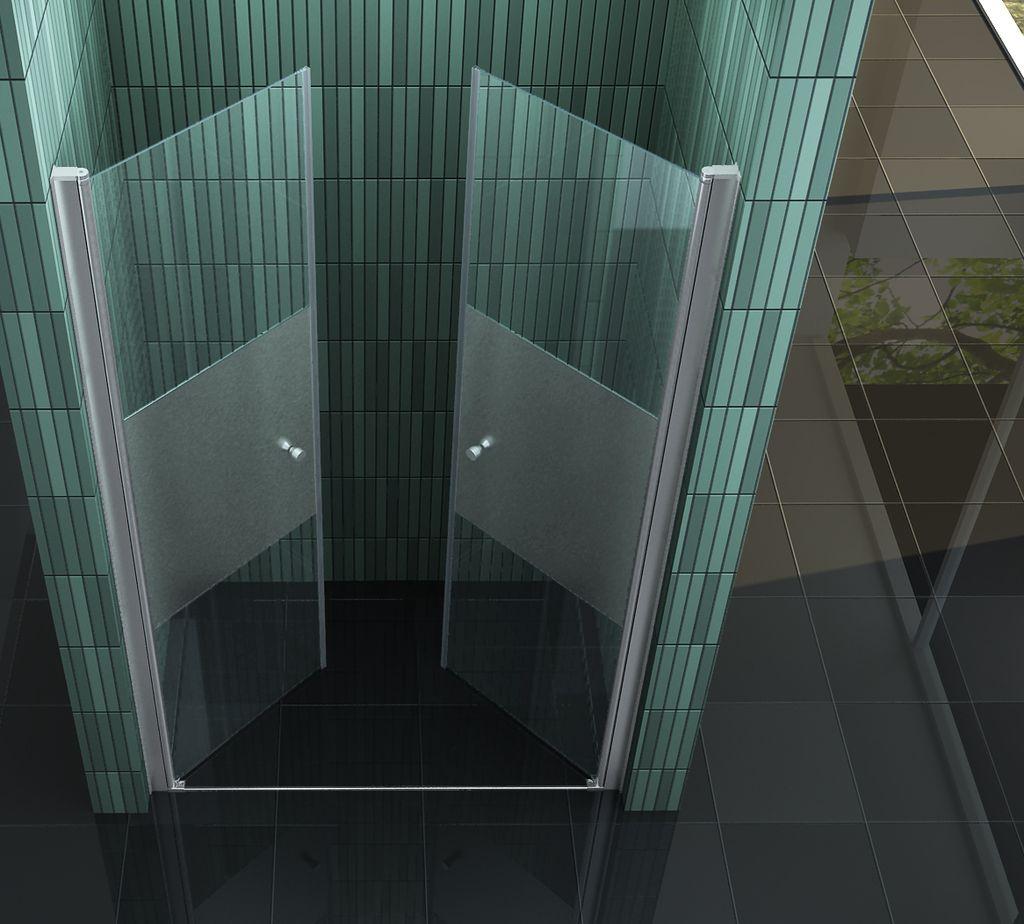 75 144 wings pf nischen t r pendel dusch t r duschabtrennung dusche duschkabine ebay. Black Bedroom Furniture Sets. Home Design Ideas