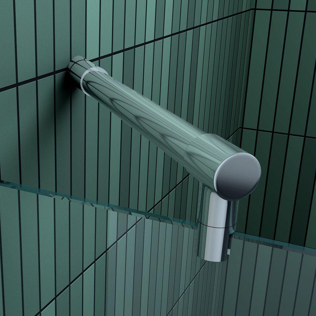 36 cm Haltestange für Duschkabinen / Duschwände