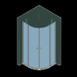 Duschkabine Viertelkreis