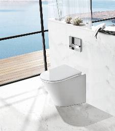 Spülrandloses Stand-WC inkl. Soft-Close Sitz WHR-446014