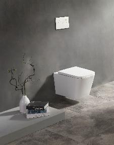 Spülrandloses Wand-WC inkl. Soft-Close Sitz WHR-446181