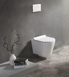 Raumspar-Wand-WC (spülrandlos) inkl. Soft-Close Sitz WHR-446185