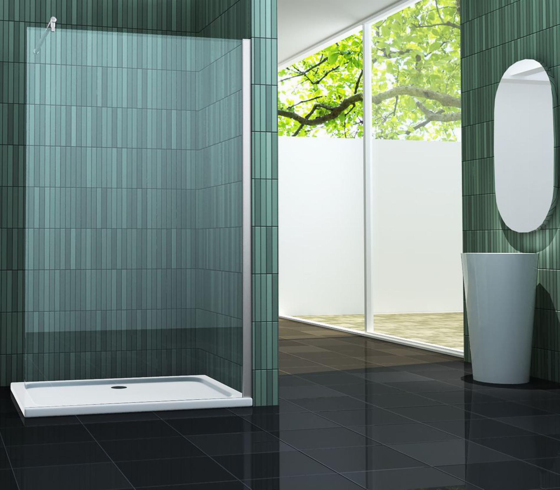 10 mm Duschtrennwand FREE (Sondergröße) für Duschtassen