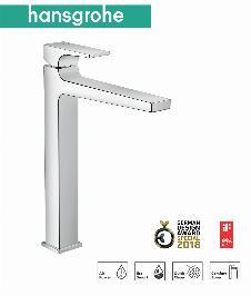 HG Metropol Einhebel-Waschtischmischer 260 mit Hebelgriff für Waschschüsseln mit Push-Open Ablaufgarnitur