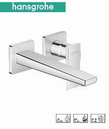 HG Metropol Einhebel-Waschtischmischer Unterputz für Wandmontage mit Hebelgriff und Auslauf 22,5 cm
