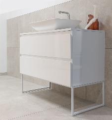 Badmöbel Unterschrank SAVIO (hochglanz-weiß) ohne Waschtisch