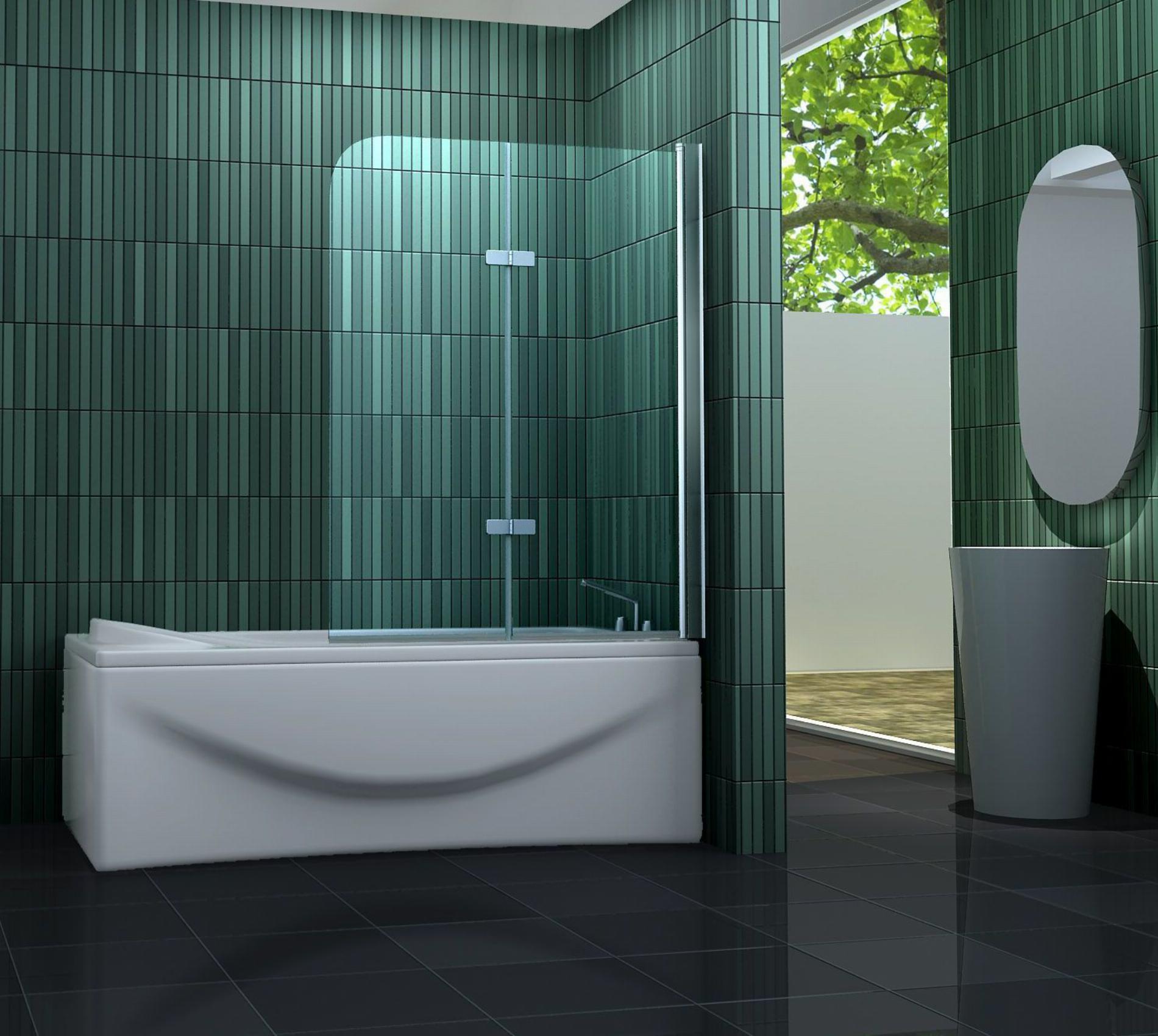 Duschtrennwand TWO (Badewanne)