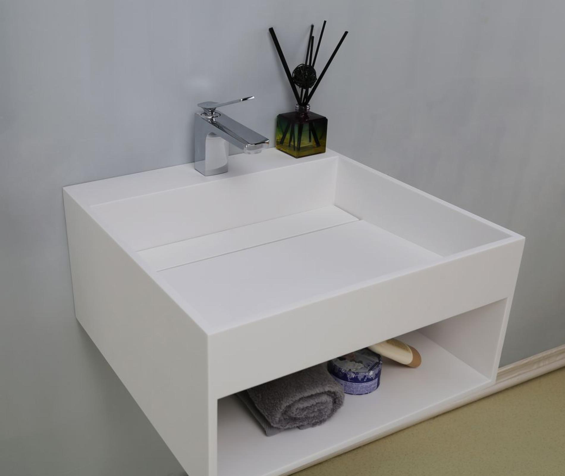 Mineralguss - Aufsatzwaschtisch WT-2372